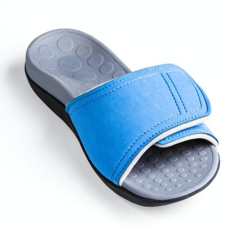 athletic wear: female slide isolated on white background Stock Photo
