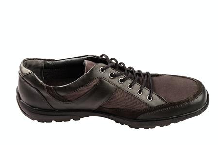 combined  mans shoe isolated on white background Stock Photo