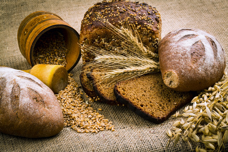 background from fresh white bread photo