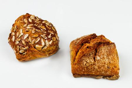 fresh white bread on white background Фото со стока - 97677293