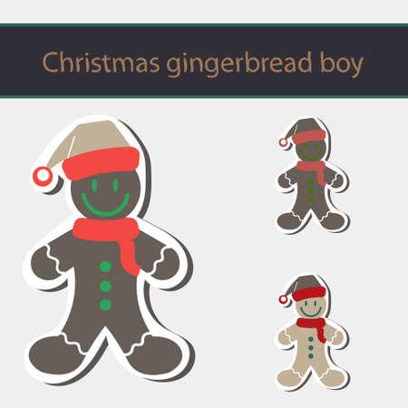Gingerbread Man Cookie Vector Illustration. Vector