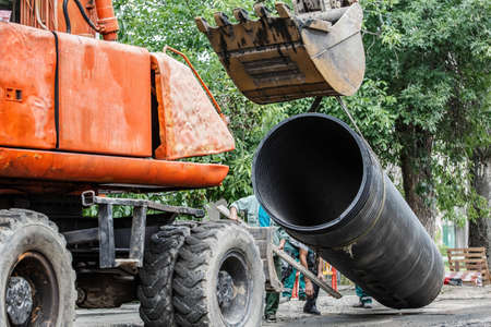 replacement of a sewer pipe deep under the ground, laying pipes under the ground, construction of a water supply line, repair of sanitary ware in Ukraine