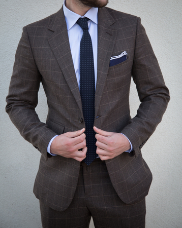 Male model in a suit posing Imagens