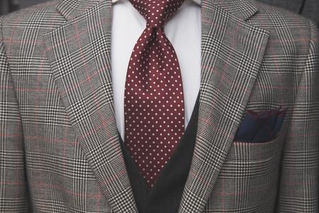Three part suit upclose
