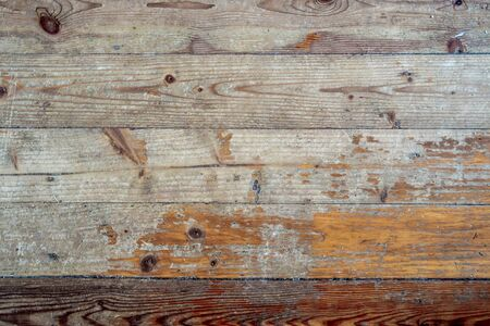 Old wooden panel background. Rustic style, top view.