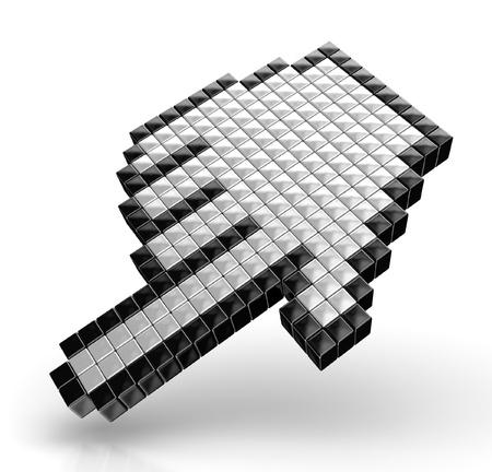 3d cursor: Hand cursors isolated over white