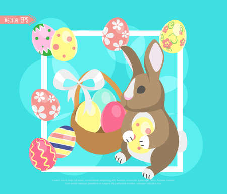 Have Yourself a Very Happy Easter. Easter Bunny Ears Vector