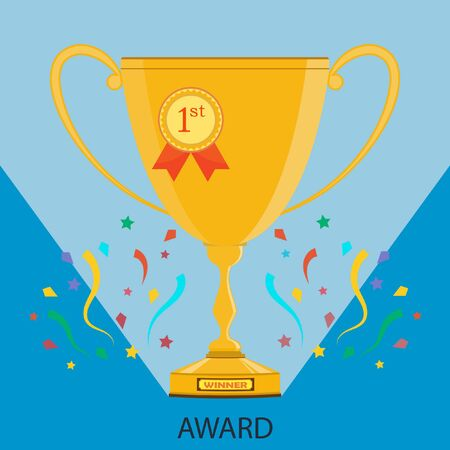 succes: Vector illustration of a trophy.