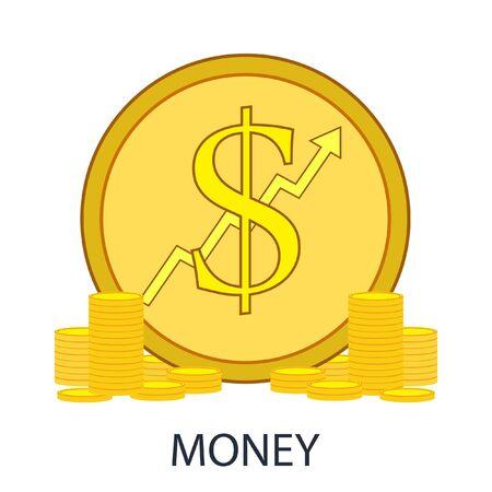 golden coins: Vector Illustration of golden coins.