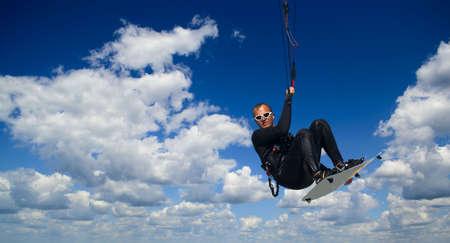 kiter: Kitesurfer inthe air