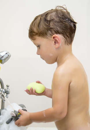 Boy with soap