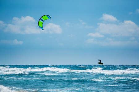 Kitesurfing or Kiteboarding photo