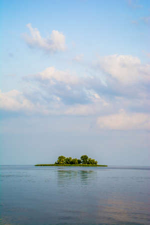 dniper: A picture of a little island in Dniper Stock Photo