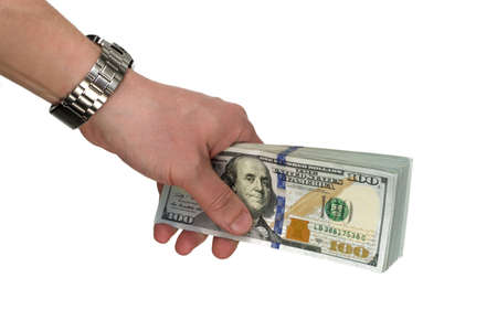 dollar banks note money in the hand