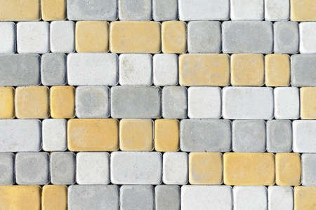 colored concrete paving slab with a beautiful high-quality texture close up Stock Photo