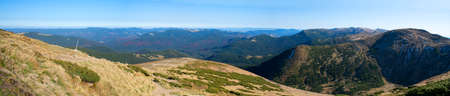 Landscape from the Top of the Carpathian Mountains