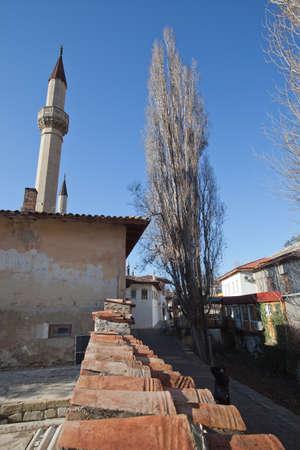 residency: Bakhchisaray, Ukraine - January 04, 2012. Museum Residency of Crimean Khan. Mosque. Muslim architecture