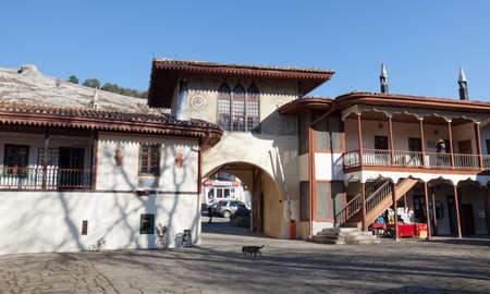 lak�hely: Bakhchisaray, Ukraine - January 04, 2012. Museum Residency of Crimean Khan. Entrance to the museum. Muslim architecture Sajtókép