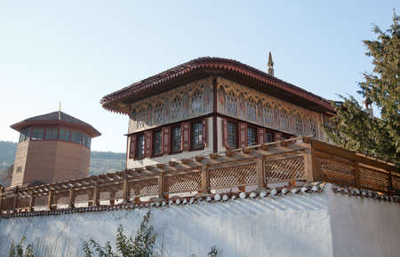 residency: Bakhchisaray, Ukraine - January 04, 2012. Museum Residency of Crimean Khan. Former harem. Muslim architecture Editorial