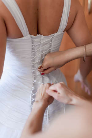 Bride dresses  Back view of bride in wedding dress
