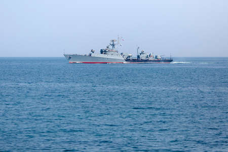 Seagoing patrol boat. Russian warship in the Black Sea