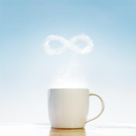 fresh morning: Сoffee concept infinity symbol