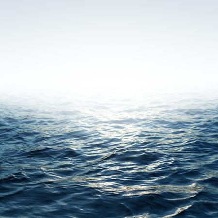 波と澄んだ青い空と青い海
