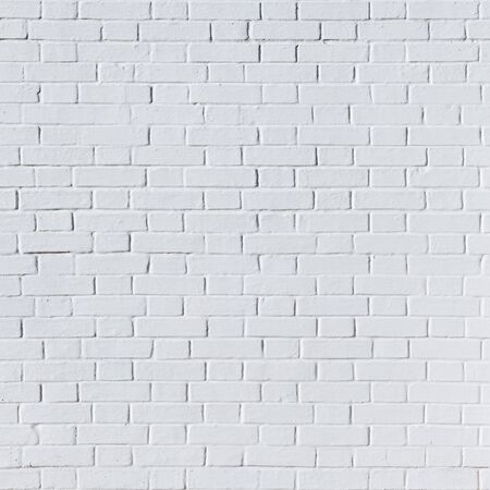 broken brick: White brick wall for background or texture