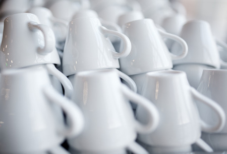 white stacked coffee cups photo