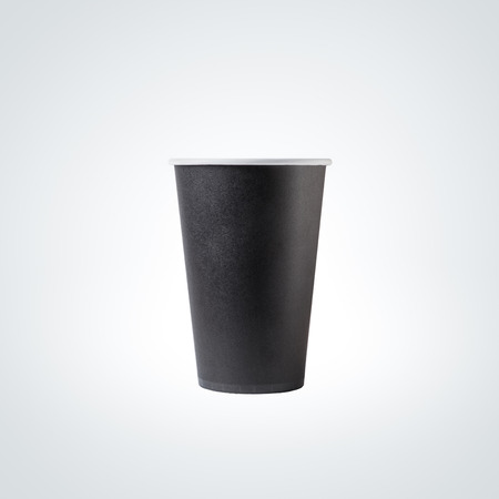 on black: Black Paper Cup close-up