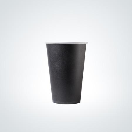 black: Black Paper Cup close-up