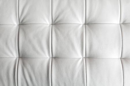 materia: genuine leather upholstery white Stock Photo