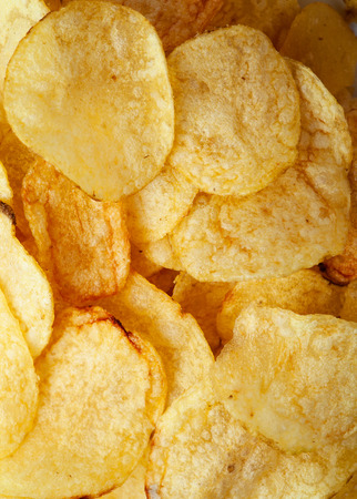 potato chip: Potato chips background close-up