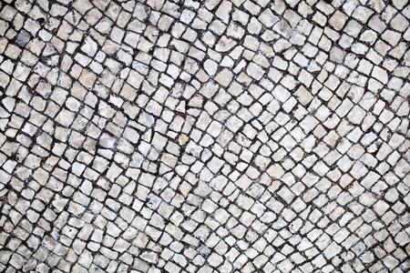 전통적인 포르투갈어 거리 돌 포장 돌 포장 텍스처 스톡 콘텐츠
