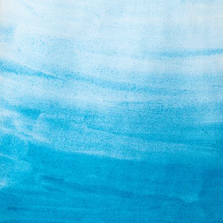 blauwe waterverfwas op papier textuur. achtergrond Stockfoto