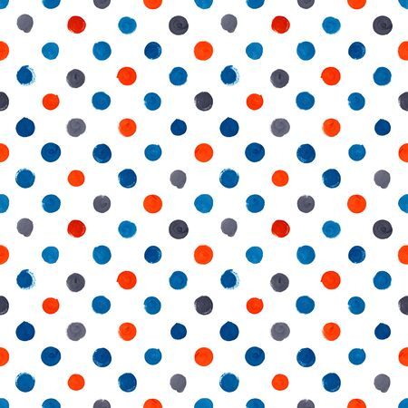 painted: Hand painted seamless watercolor pattern on white background