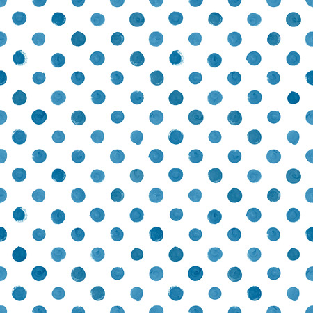 seamless bacground: Hand painted seamless blue watercolor pattern on white bacground Stock Photo