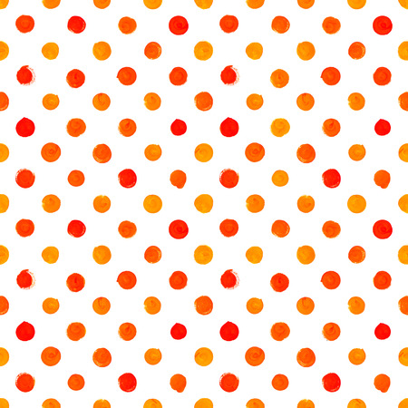 seamless bacground: Hand painted seamless red watercolor pattern on white bacground