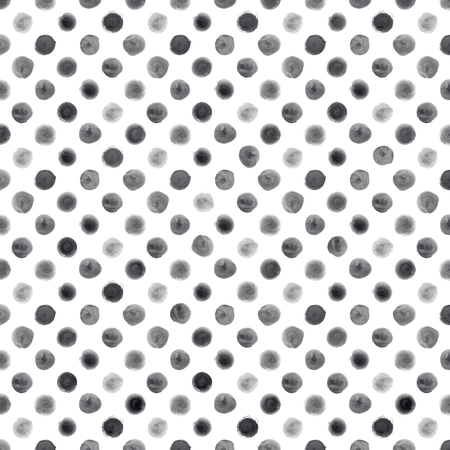 painted: Hand painted seamless watercolor brush stroke pattern on white background Stock Photo