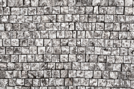 cobble: Stone pavement texture, Granite cobblestoned pavement background,Abstract background of old cobblestone pavement close-up Stock Photo