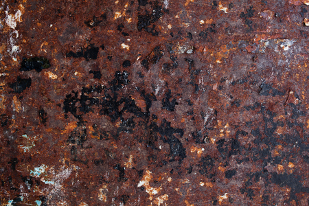 aluminium texture: Old rusty metal plate for background and texture Stock Photo