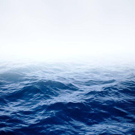 ocean and sea: Blue sea with waves Blue clear ocean and sky deep sea