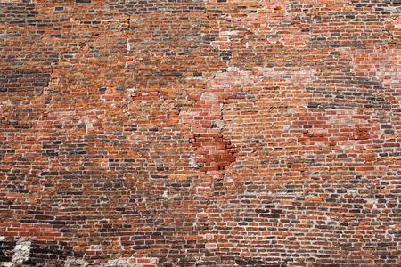 Achtergrond van oude vintage bakstenen muur rode bakstenen muur texture grunge achtergrond