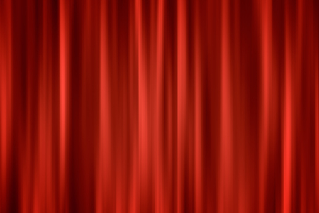 curtain background: Abstract ardent background Red closed curtain blured, defocus background