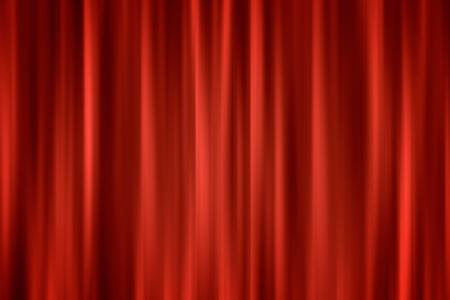 sipario chiuso: sfondo ardente astratta chiuso rosso tenda blured, sfondo di sfocatura