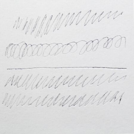 drawing paper: Pencil Stroke grunge drawing pencil line texture on paper Stock Photo