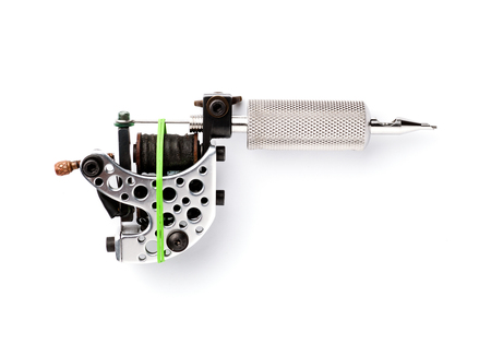 Professional Tattoo Machine Machine voor tattoo op wit Stockfoto