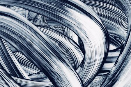 the brush: Curvas abstractas grunge fondo pintado a mano pinceladas
