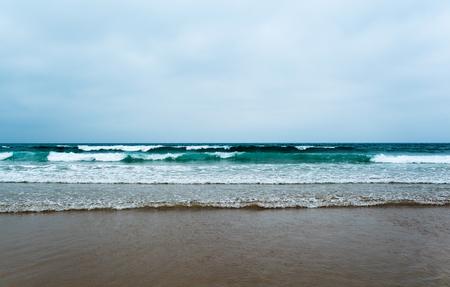 ocean waves: Waves in ocean beach Sea view