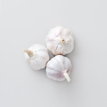 garlic: vista superior de ajo